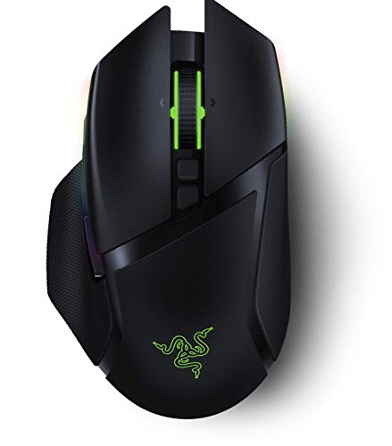 Razer Basilisk Ultimate HyperSpeed Wireless Gaming Mouse: Fastest Gaming Mouse Switch, 20K DPI Optical Sensor, Chroma RGB Lighting, 11 Programmable Buttons, 100 Hr Battery, Classic Black