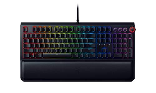 Razer BlackWidow Elite Mechanical Gaming Keyboard: Yellow Mechanical Switches - Linear & Silent - Chroma RGB Lighting - Magnetic Wrist Rest - Dedicated Media Keys & Dial - USB Passthrough