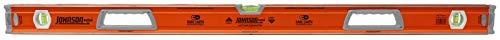 Johnson Level & Tool 1718-4800 48-Inch Magnetic Glo-View Aluminum Box Beam Level, Yellow
