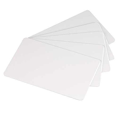 Premium White Blank Plastic CR80 30 Mil PVC Cards for ID Badge Printers 500 Pack