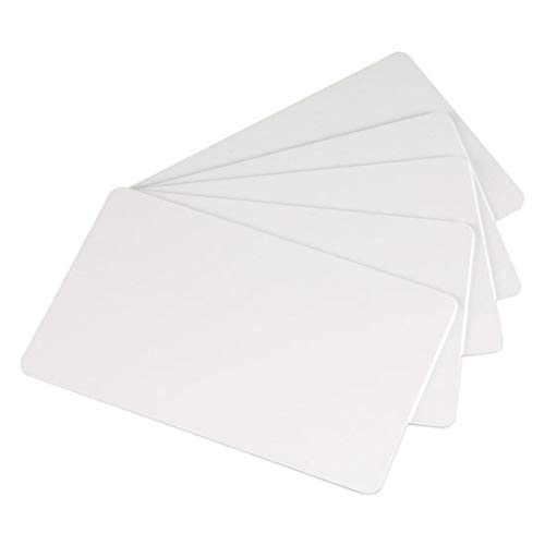Premium White Blank Plastic CR80 30 Mil PVC Cards for ID Badge Printers 100 Pack - Made in The USA