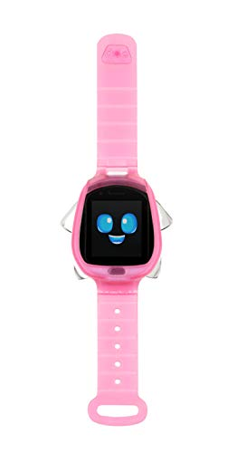 Little Tikes Tobi Robot Smartwatch - Pink with Movable Arms and Legs, Fun Expressions, Sound Effects, Play Games, Track Fitness and Steps, Built-in Cameras for Photo and Video 512 MB | Kids Age 4+