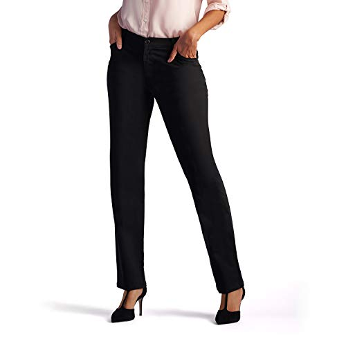 Lee Womenâ€s Relaxed Fit All Day Straight Leg Pant, 16 Long, Black