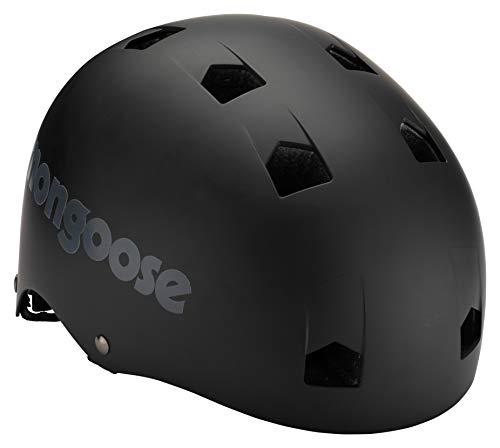 Mongoose BMX Bike Helmet, Multi Sport Kids Helmet, Black, Youth