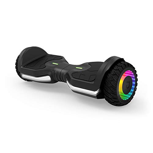 Jetson Flash Self Balancing Hoverboard with Built In Bluetooth Speaker | Includes All Terrain Tires, Reach Speeds up to 10 MPH | Range of Up to 12 Miles, Ages 13+, JFLASH-BB, Black