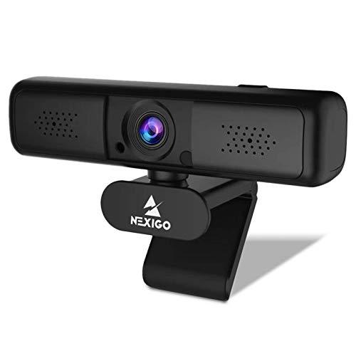 2K QHD Webcam with 3X Digital Zoom and Privacy Cover, 2021 NexiGo 1440P USB Streaming Web Camera, 80 Degree Widescreen for Online Class Zoom Meeting Skype Teams, PC Mac Laptop Desktop