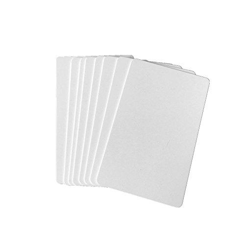 Premium Blank PVC Cards for ID Badge Printers Graphic Quality White Plastic CR80 30 Mil for Zebra Fargo,Magicard Printers (20pcs)