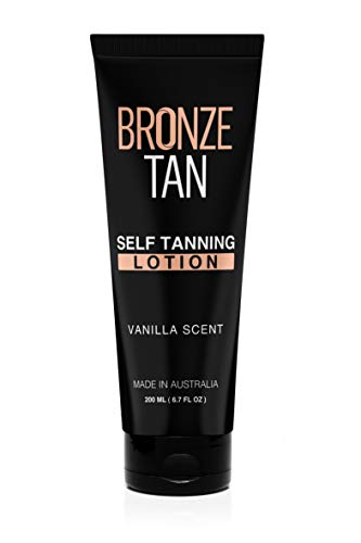 Bronze Tan Self Tanning Lotion with Natural and Organic Ingredients Self Tanner for Face and Body Fake Tan Vanilla Scented Sunless Tanner (200ml/6.76 fl oz)