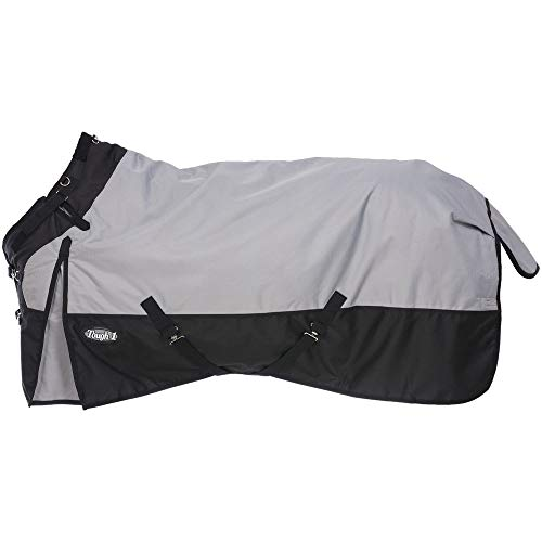 Tough-1 1200D Poly Turnout Snuggit Horse Blanket Grey 81IN
