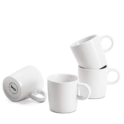 Sweese 409.401 Porcelain Espresso Cups - 3.5 Ounce - Set of 4, White