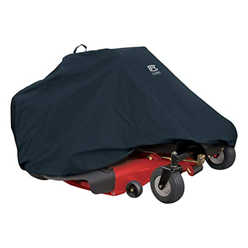 Classic Accessories 52-150-040401-00 Zero Turn Riding Mower Cover, Up to 60' Decks,Black,60 in