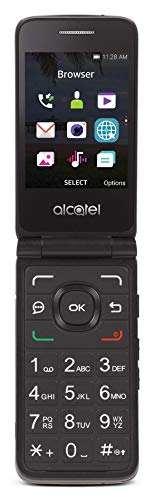 Tracfone Carrier-Locked Alcatel MyFlip 4G Prepaid Flip Phone- Black - 4GB - Sim Card Included – CDMA (Renewed)