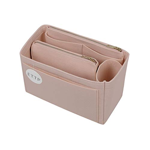 Purse Organizer, Felt Bag Organizer Insert Purse Organizer For Speedy, Neverfull, Tote, Handbag (Medium Slender, Beige)