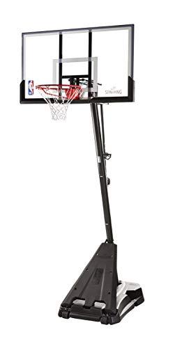 Spalding NBA Hercules Portable Basketball Hoop - 54inch Acrylic Backboard, Black Base