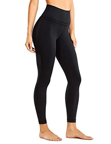 CRZ YOGA Women's Naked Feeling High Waist Yoga Tight Pants 7/8 Workout Leggings - 25 Inches Black X-Large