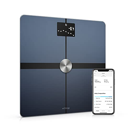 Withings Body+ - Digital Wi-Fi Smart Scale with Automatic Smartphone App Sync, Full Body Composition Including, Body Fat, BMI, Water Percentage, Muscle & Bone Mass, with Pregnancy Tracker & Baby Mode