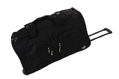 Rockland Rolling Duffel Bag, Black, 30-Inch