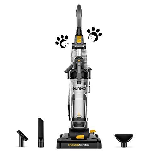 Eureka PowerSpeed Lightweight Powerful Pet Upright Vacuum Cleaner for Carpet and Hard Floor, Turbo, Black