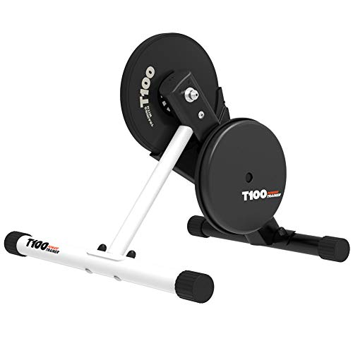Magene T100 Direct Drive Bike Turbo Trainer - Stationary Indoor Riding Stand - Portable Design is Quiet for Indoor Use - Passes Power Info to Cycling Apps - ANT+ & Bluetooth Compatible