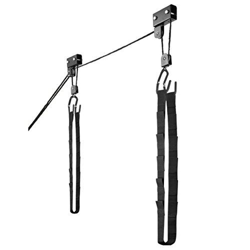 Kayak Hoist – Overhead Pulley System with 125 lb Capacity for Kayak, Canoe, Bike, or Ladder Storage by Rad Sportz