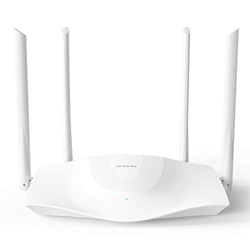 Tenda Wi-Fi 6 Router AX1800 Smart WiFi Router (RX3) -Dual Band Gigabit Wireless Internet Router,with MU-MIMO+OFDMA, 1.8GHz Quad-Core CPU, Up to 1200 Square Feet Coverage(4 Rooms) & 64 Devices