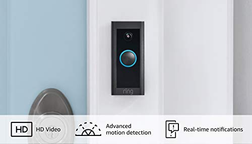 Introducing Ring Video Doorbell Wired – Convenient, essential features in a compact design, pair with Ring Chime to hear audio alerts in your home (existing doorbell wiring required) - 2021 release