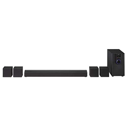 iLive 5.1 Home Theater System with Bluetooth, Wall Mountable, 26 Inch Speaker with 4 Satellite Speakers (IHTB138B),Black