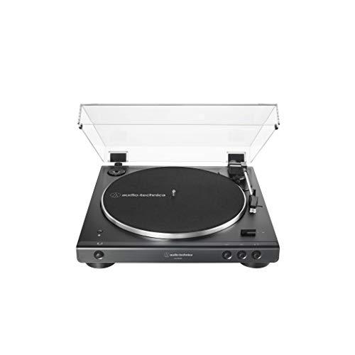 Audio-Technica AT-LP60XBT-BK Fully Automatic Wireless Belt-Drive Turntable (Black) (ATLP60XBTBK)