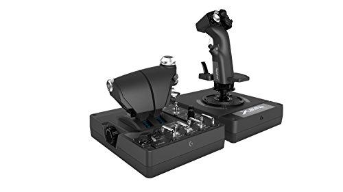 Logitech G X56 H.O.T.A.S Throttle and Joystick Flight Simulator Game Controller, 4 Spring Options, +189 Programmable Controls, RGB Lighting, 2x USB, PC - Black