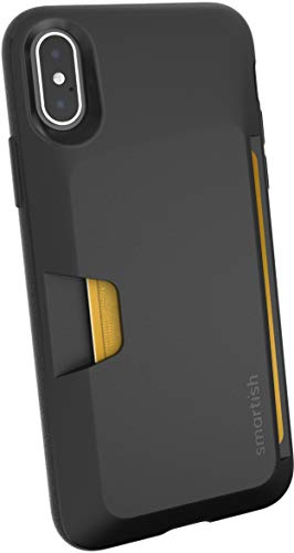 Smartish iPhone X/XS Wallet Case - Wallet Slayer Vol. 1 [Slim + Protective] Credit Card Holder for Apple iPhone 10s/10 (Silk) - Black Tie Affair