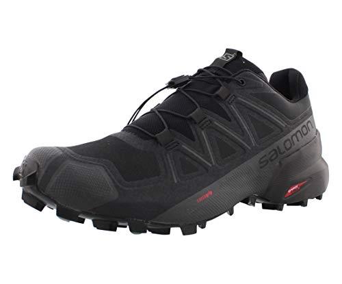 Salomon men's Speedcross 5 Trail Running, Black/Black/Phantom, 10.5 US