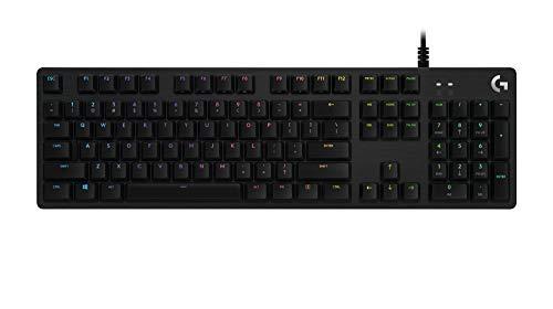 Logitech G512 SE Lightsync RGB Mechanical Gaming Keyboard with USB Passthrough - Black
