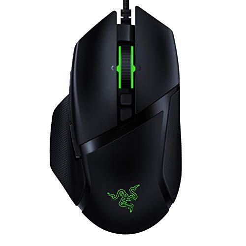 Razer Basilisk v2 Wired Gaming Mouse: 20K DPI Optical Sensor, Fastest Gaming Mouse Switch, Chroma RGB Lighting, 11 Programmable Buttons, Classic Black