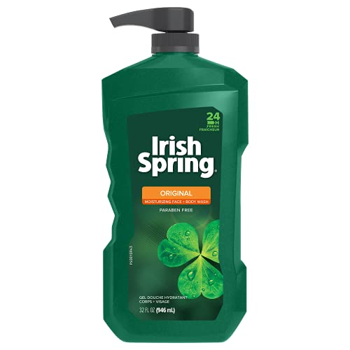 Irish Spring Men's Body Wash Pump, Original - 32 Fluid Ounce