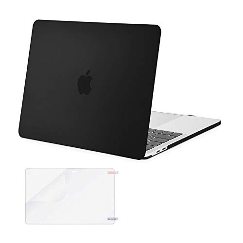 MOSISO MacBook Pro 13 inch Case 2020 2019 2018 2017 2016 Release A2338 M1 A2289 A2251 A2159 A1989 A1706 A1708, Plastic Hard Shell&Screen Protector Compatible with MacBook Pro 13 inch, Black
