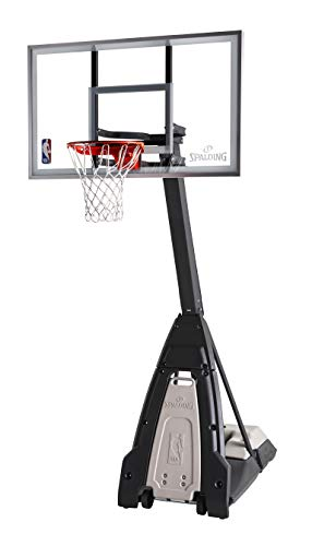 Spalding The Beast 60inch Glass Portable Basketball Hoop