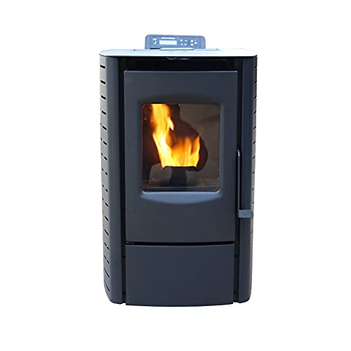 Cleveland Iron Works PS20W-CIW Installed Pellet Stove, Black