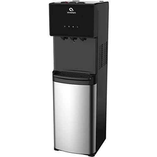 Avalon Bottom Loading Water Cooler Water Dispenser - 3 Temperature Settings - Hot, Cold & Room Water, Durable Stainless Steel Cabinet, Bottom Loading - UL/Energy Star Approved (Renewed)