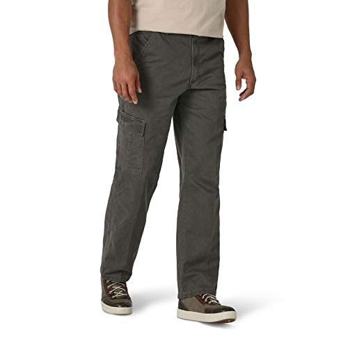Wrangler Authentics Men's Classic Twill Relaxed Fit Cargo Pant, Olive Drab, 36W x 30L