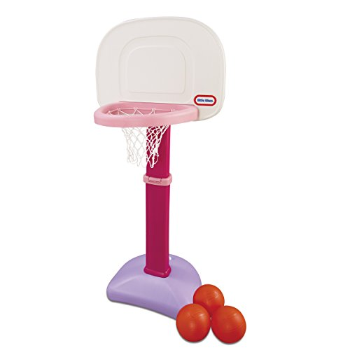 Little Tikes TotSports Easy Score Basketball Set for Kids 1-3 Years Pink 2.00 L x 23.75 W x 61.00 H Inches