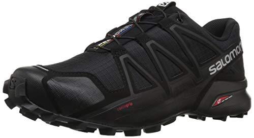 Salomon Men's Speedcross 4 Trail Running, Black/Black/Black Metallic, 11