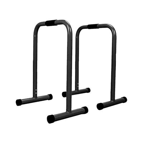 ReachPT Dip Bar, Dip Stand, Ab Exercise Workout, Pull-Up Bar, Exercise Equipment, Home Gym (Matte Black)