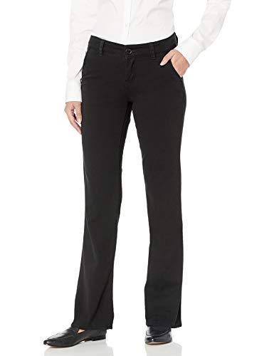 UNIONBAY womens Heather Slash Pocket Stretch Uniform Bootcut Pants, New Black, 1 US