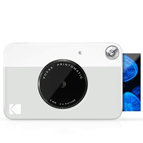 KODAK Printomatic Digital Instant Print Camera - Full Color Prints On ZINK 2x3' Sticky-Backed Photo Paper (Grey) Print Memories Instantly