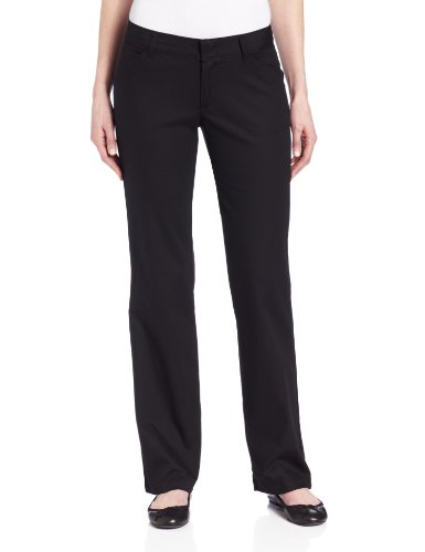 Dickies Women's Relaxed Fit Straight Leg Twill Pant, Black, 14 Long