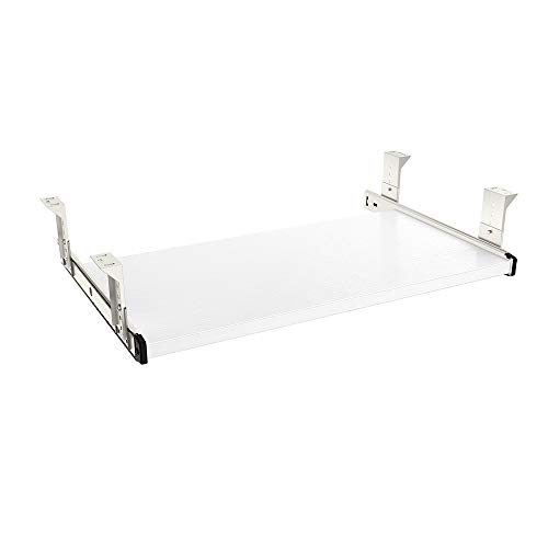 FRMSAET Furniture Accessories Office Product Suits Hardware 20/24/30 inches Keyboard Drawer Tray Wood Holder Under Desk Adjustable Height Platform. (20 inches, White)