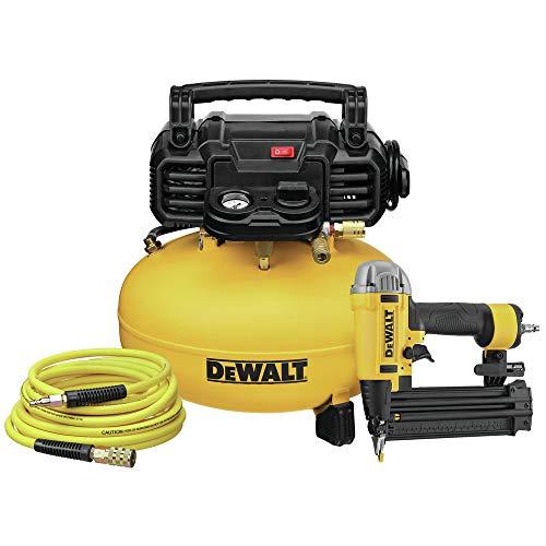 Dewalt DWFP1KIT 18 Gauge Brad Nailer and 6 Gallon Oil-Free Pancake Air Compressor Combo Kit