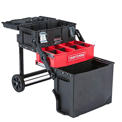 CRAFTSMAN 22 inch Multi-Level Rolling Workshop Lockable Tool Box in RED