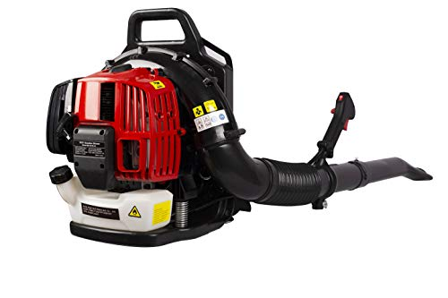 WEVIVU Backpack Leaf Blower Gas Powered with Extention Tube, 52CC 2-Stroke Engine EPA Passed 530CFM 248MPH Back Pack Blower with Heavy Duty Frame and Adjustable Shoulder Straps