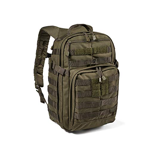 5.11 Tactical Backpack – Rush 12 2.0 – Military Molle Pack, CCW and Laptop Compartment, 24 Liter, Small, Style 56561, Ranger Green